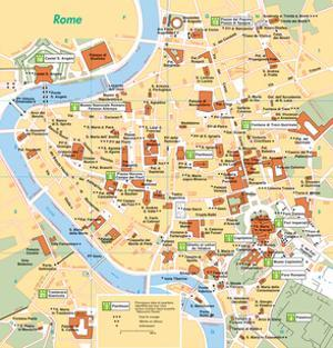 Michelin Official Rome French Map Art Print Poster