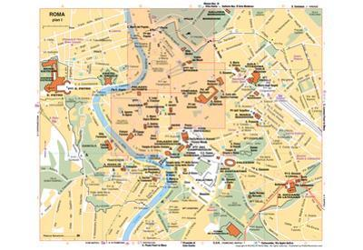 Michelin Official Rome Italy Map Art Print Poster