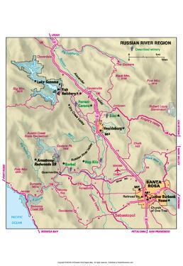 Michelin Official Russian River Area Map Art Print Poster