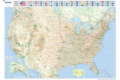 Maps Of The United States Posters At AllPosterscom - Us road map for ipad