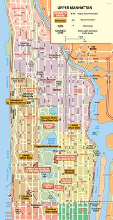 Michelin Official Upper Manhattan NYC Map Art Print Poster