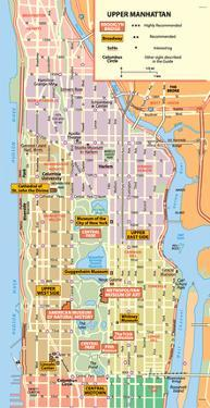 Michelin Official Upper Manhattan NYC Map Art Print Poster