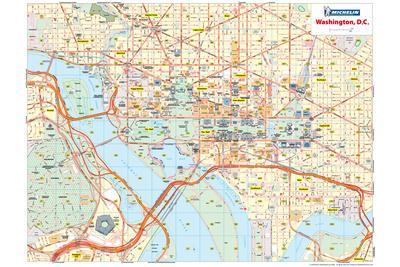Maps of Washington DC Posters for sale at AllPosterscom