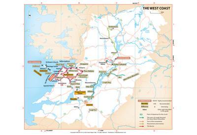 Michelin Official West Coast Ireland Region Map Art Print Poster