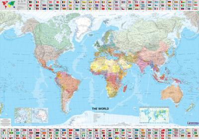 Michelin Official World Map with Flags Poster