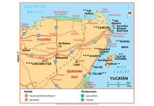Michelin Official Yucatan Art Print Poster