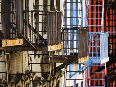 Detail of Fire Escapes on First Avenue Building