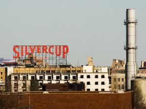 Silvercup Studios Sign, Chimney Stack and Buildings in Queens by Michelle Bennett