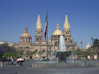 Fountain in Front of the Christian Cathedral in Guadalajara, Jalisco, Mexico, North America by Michelle Garrett