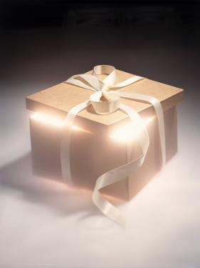 Gift Box Glowing from Within by Michelle Joyce