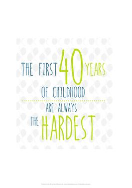 40 Years of Childhood - Wink Designs Contemporary Print by Michelle Lancaster