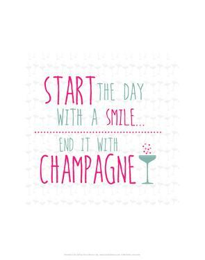 Champagne - Wink Designs Contemporary Print by Michelle Lancaster