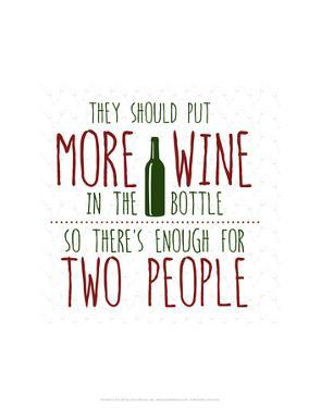 More Wine - Wink Designs Contemporary Print by Michelle Lancaster
