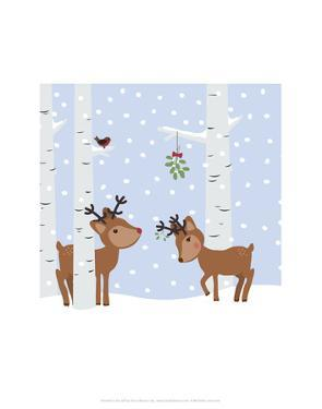 Reindee Love - Wink Designs Contemporary Print by Michelle Lancaster