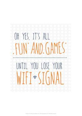 Wifi Signal - Wink Designs Contemporary Print by Michelle Lancaster