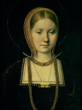 Portrait of a Woman, Possibly Catherine of Aragon (1485-1536), circa 1503/4 by Michiel Sittow