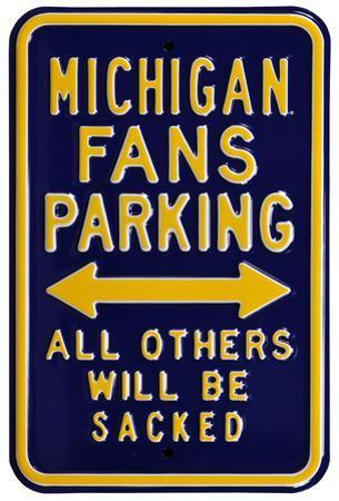 Michigan Sacked Parking Steel Sign