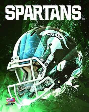 Michigan State Spartans Helmet Composite