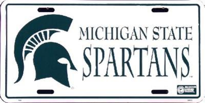 Michigan State Spartans License Plate