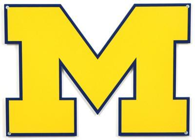 Michigan Wolverines Lasercut Steel Logo Sign