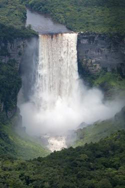 Aerial View of Kaieteur Falls in Full Spate, Guyana, South America by Mick Baines & Maren Reichelt