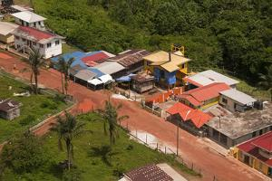 Aerial View of the Mining Town of Mahdia, Guyana, South America by Mick Baines & Maren Reichelt