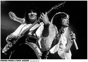 Mick Jagger and Ronnie Wood