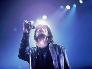 Mick Jagger During a Performance by the Rolling Stones