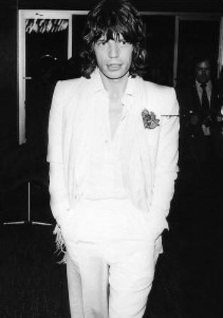 Mick Jagger in White Suit