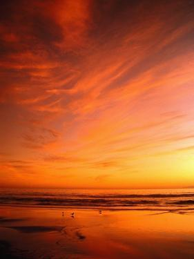 Southern California Sunset at Beach by Mick Roessler