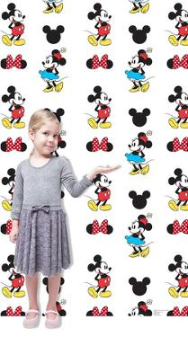 Mickey and Minnie Step and Repeat Cardboard Cutout