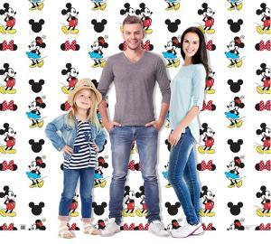Mickey and Minnie Step and Repeat - Double Wide