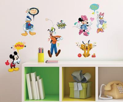 Mickey & Friends - Animated Fun Peel and Stick Wall Decals