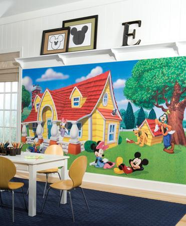 Mickey & Friends Chair Rail Prepasted Mural