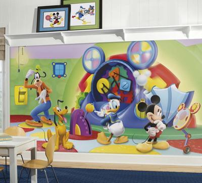 Mickey & Friends Clubhouse - Capers Prepasted Mural