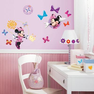 Mickey & Friends - Minnie Bow-Tique Peel & Stick Wall Decals