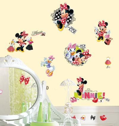Great Mickey U0026 Friends   Minnie Loves To Shop Peel U0026 Stick Wall Decals