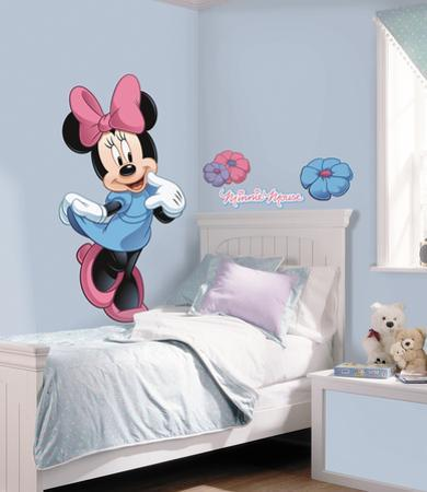 Mickey & Friends - Minnie Mouse Peel & Stick Giant Wall Decal