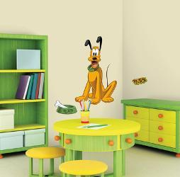 Mickey Friends Pluto L Stick Giant Wall Decal