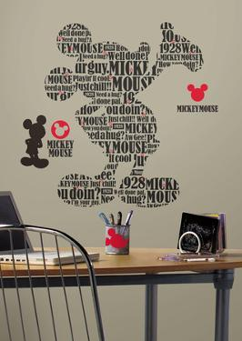 Mickey & Friends - Typography Mickey Mouse Peel & Stick Giant Wall Decals