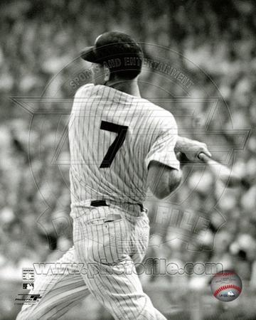 Mickey Mantle 1961 Action