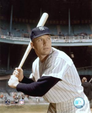 Mickey Mantle - #8 Posed with Bat (Yankee Stadium)
