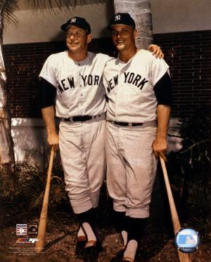 Mickey Mantle and Roger Maris- Palm Trees