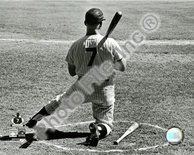 Mickey Mantle Kneeling in the On Deck Circle