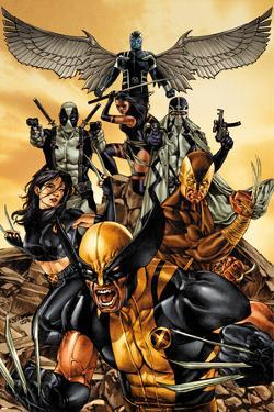 Wolverine: The Road to Hell No.1 Cover: Wolverine, X-23, Deadpool, Psylocke, Archangel, & Fantomax by Mico Suayan