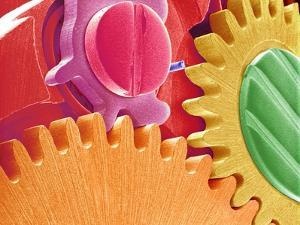 Multicolored Watch Gears by Micro Discovery