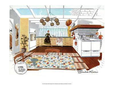 Mid Century Modern Kitchen, Swedish