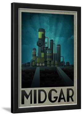 Midgar Retro Travel Poster