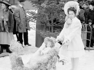 Midwinter Carnival, Childrens Parade, Miss Johnson, Winner of the First Prize, Upper Saranac Lake