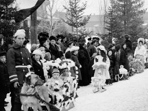 Midwinter Carnival, Childrens Parade, Upper Saranac Lake, N.Y.